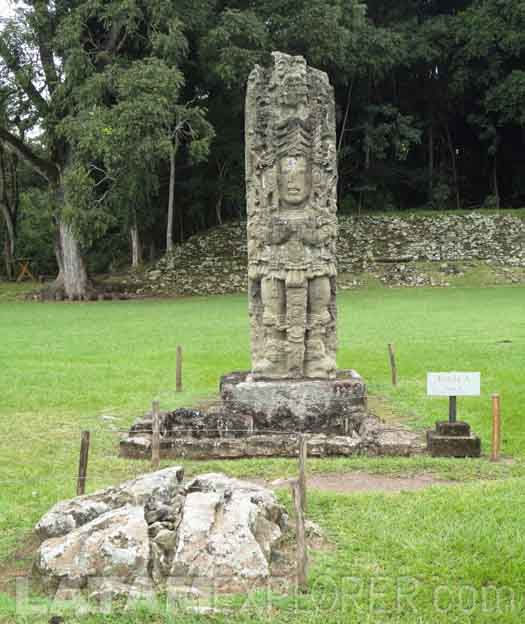Estela, Copán Ruinas, Honduras