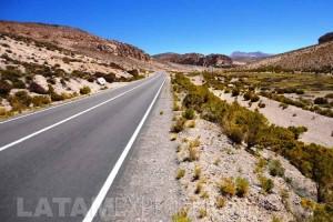 Carretera altiplánica - Región de Tarapacá, Chile