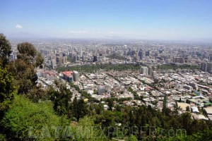 Santiago seen from the San Cristóbal Hill
