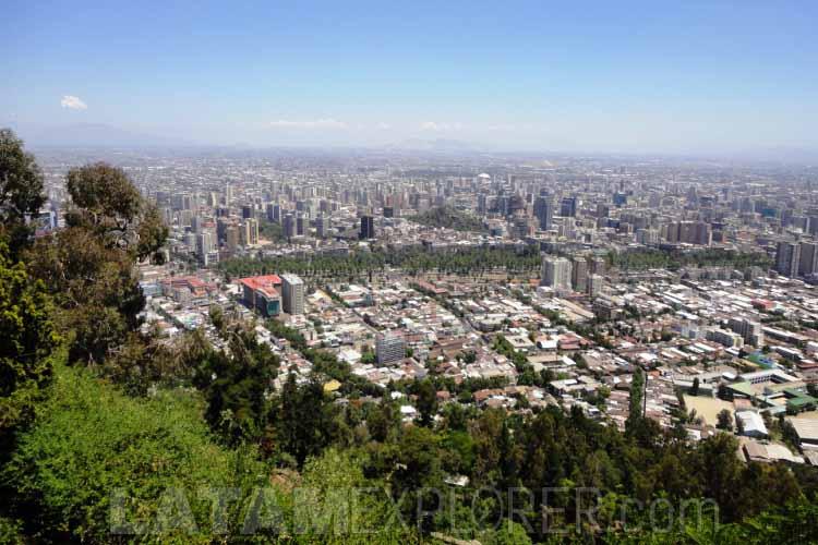 Santiago seen from the San Cristóbal Hill