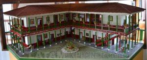 Maqueta de casa colonial colombiana